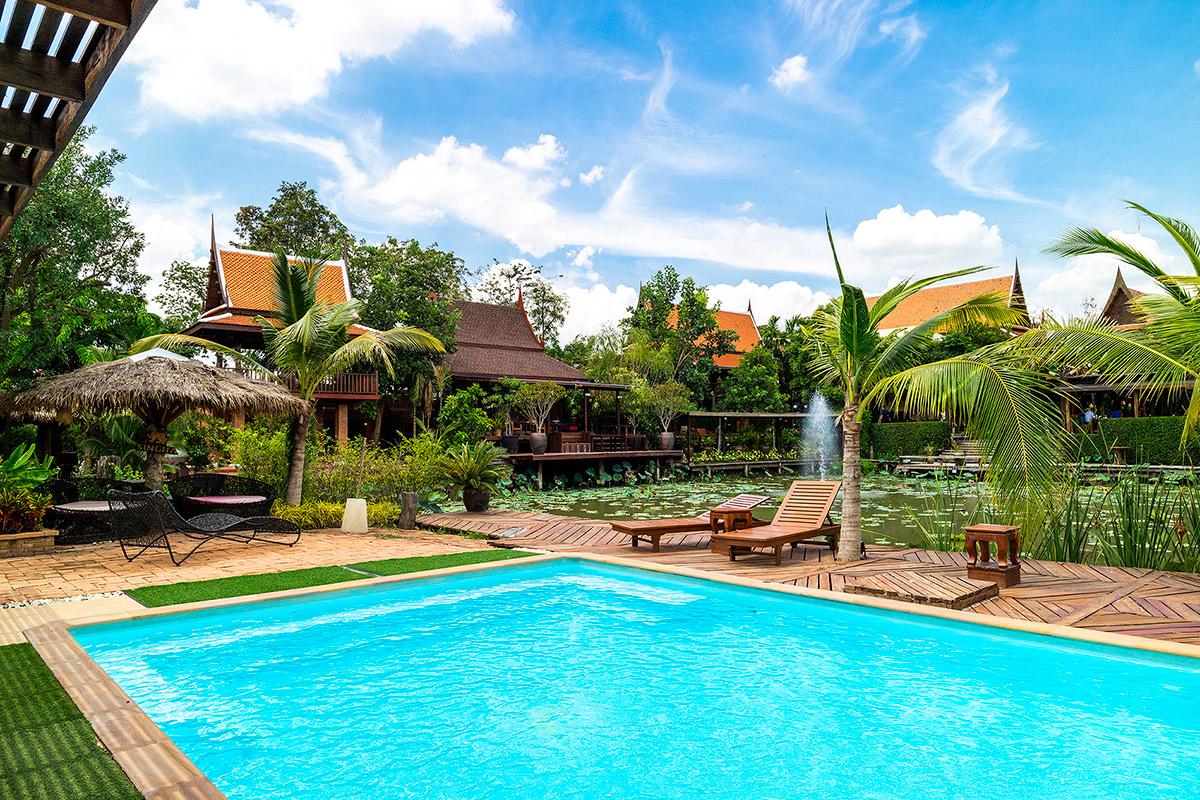 โรงแรม อยุธยา รีทรีต Ayutthaya Retreat  อยุธยา รีทรีต Ayutthaya Retreat โรงแรมทรงไทย ตามรอยละครดัง IMG 3614