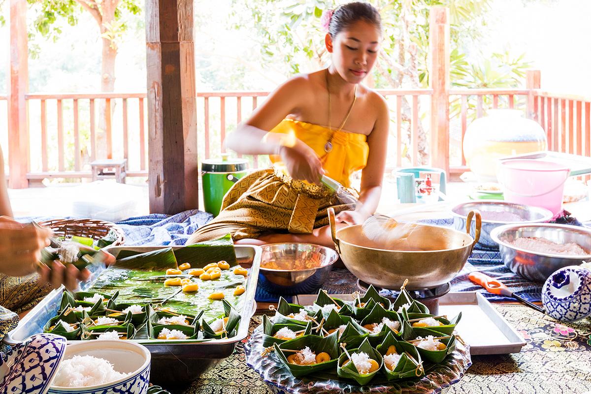 เรียนการทำอาหารไทย อยุธยา รีทรีต Ayutthaya Retreat  อยุธยา รีทรีต Ayutthaya Retreat โรงแรมทรงไทย ตามรอยละครดัง IMG 3645
