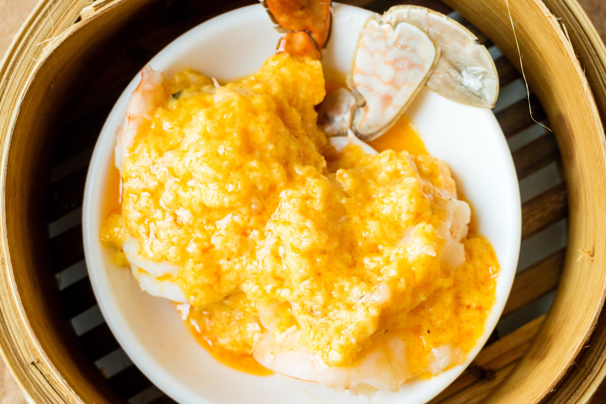 กรรเชียงปูนึ่งผงกะหรี่  ห้องอาหารจีนหยู เห้อ สไตล์ฮ่องกง คุณภาพฮ่องเต้ IMG 0049 2