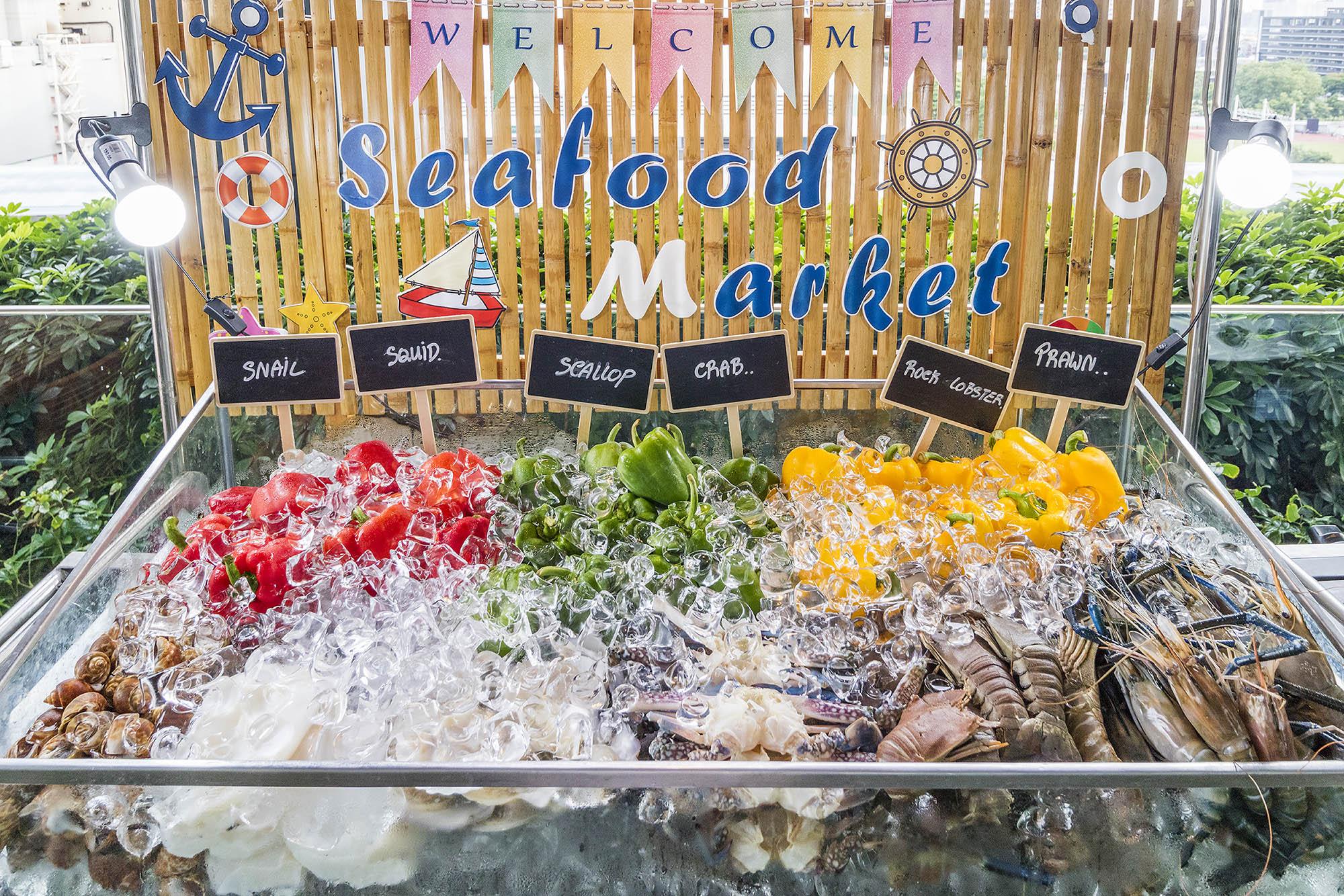 Seafood Market Buffet ห้องอาหาร The Eight โรงแรม Mercure Bangkok Siam  Seafood Market Buffet ห้องอาหาร The Eight โรงแรม Mercure Bangkok Siam IMG 0053