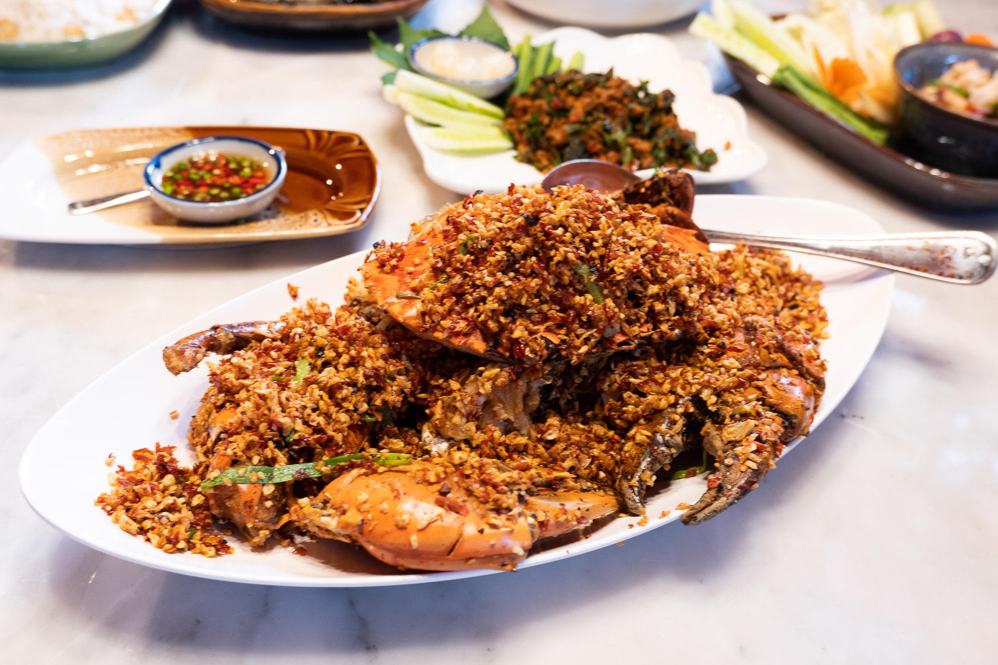 Spicy Crab อำแดงไต้ฝุ่น  อำแดงไต้ฝุ่น อาหารไทยโบราณรสเลิศ  สุขุมวิท 32 DSCF0144